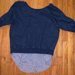 (Zara) Layered Sweatshirt